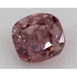 0.45 Carat, Natural Fancy Intense Pink, Cushion Shape, SI2 Clarity, GIA