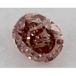 1.26 Carat, Natural Fancy Intense Orangy Pink, Cushion Shape, VS2 Clarity, GIA