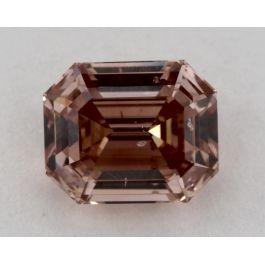 1.64 Carat, Natural Fancy Deep Brown-Pink, Step Cut, SI2 Clarity, GIA