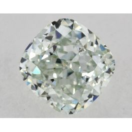 0.71 Carat, Natural Fancy Green, Cushion Shape, VVS2 Clarity, GIA