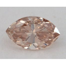 0.58 Carat, Natural Fancy Brownish Yellowish Orange, Marquise Shape, SI1 Clarity, GIA