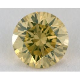 1.23 Carat, Natural Fancy Intense Greenish Yellow, Round Shape, SI1 Clarity, GIA