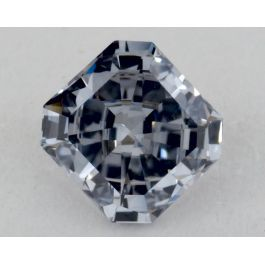 0.50 Carat, Natural Fancy Gray-Blue, Radiant Shape, VVS1 Clarity, GIA