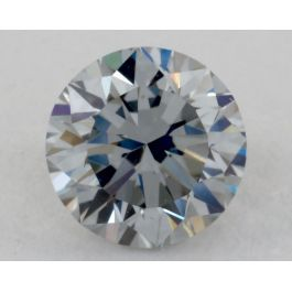 0.53 Carat, Natural Fancy Gray-Blue, Round Shape, IF Clarity, GIA