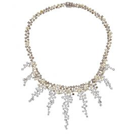Royal necklace with 31.05 carat Diamonds and 51.50gr 18K Gold