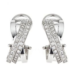 Charming Diamond Earrings set with 1.20 carat and 9.20gr. 18K gold