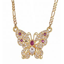 Butterfly pendant with 0.95 carat Ruby, 1.20 carat Diamonds and 14.40gr Gold