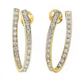 Designer Earrings with 1.15 carats White Diamonds and 7.80gr. 18K Gold