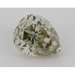 0.77 Carat, Natural Greenish Yellow - Gray, Pear Shape, SI2 Clarity, GIA