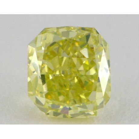 1.04ct., Fancy Intense Green-Yellow, W099, Radiant, SI2 Clarity, GIA