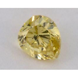 0.52 Carat, Natural Fancy Intense Yellow, Pear Shape, I2 Clarity, GIA