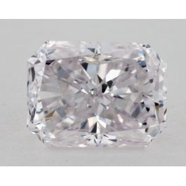 1.00 Carat, Natural Very Light Purple, I1 Clarity, Radiant, GIA