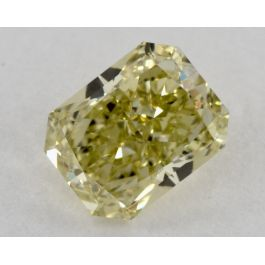 1.09 Carat, Fancy Greenish Yellow, VVS1 Clarity, Radiant, GIA
