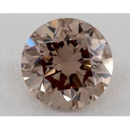 0.70 Carat, Fancy Pinkish Brown, VS1 Clarity, Round, GIA