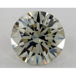 1.22 Carat, Fancy Light Grayish Greenish Yellow, VS1 Clarity, Round, GIA