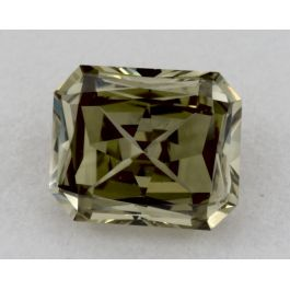 0.48 Carat, Fancy Grayish Greenish Yellow, VS2 Clarity, Radiant, GIA.