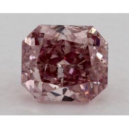 0.45 Carat, Fancy Intense Purplish Pink, Radiant, SI2 Clarity, GIA
