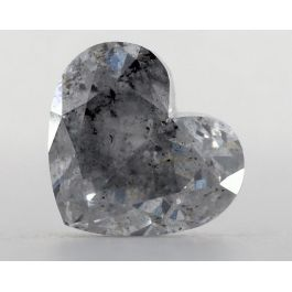 1.02 Carat, Fancy Light Gray-Blue, I2 Clarity, Heart, GIA