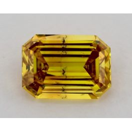 1.50 Carat, Fancy Deep Orangey Yellow, SI2 Clarity, Radiant, GIA