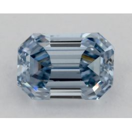 0.23 Carat, Natural Fancy Intense Blue, SI2 Clarity, Emerald cut, GIA