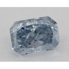 0.41 Carat,Natural Fancy Blue, Radiant, GIA