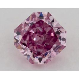 0.28 Carat, Natural Fancy Vivid Purple-Pink. I1 Clarity, Radiant, GIA