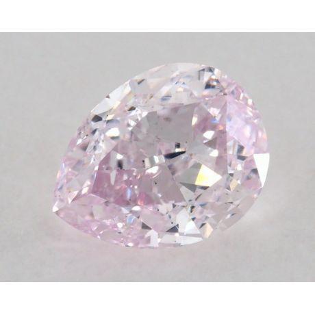0.52 Carat, Natural Fancy Light Purplish Pink, VS2 Clarity, Pear, GIA