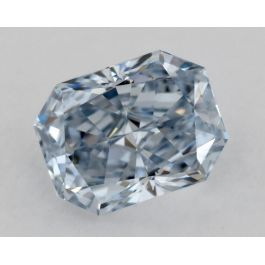 0.44 Carat, Natural Fancy Blue, VVS2 Clarity, Radiant, GIA