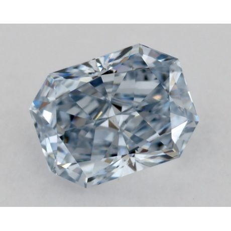 0.44 Carat, Natural Fancy Blue, VVS2 Clarity, Radiant, GIA