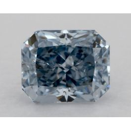 0.51 Carat, Fancy Intense Blue, Radiant, GIA