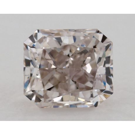 0.51 Carat, Natural Fancy Light Pinkish Brown, Radiant Shape, SI2 Clarity, GIA