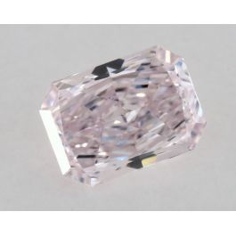 0.41 Carat, Natural Fancy Light Pink-Purple, Radiant Shape, VS2 Clarity, GIA