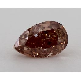 1.12 Carat, Natural Fancy Deep Brown-Pink, SI1 Clarity, Pear Shape, GIA
