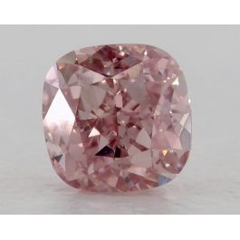 0.53 Carat, Fancy Intense Pink, VS1 Clarity, Cushion, GIA