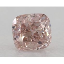 0.71 Carat, Natural Fancy Pink, VS2 Clarity, Cushion, GIA