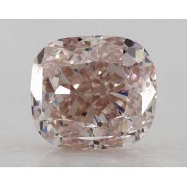 1.00 Carat, Natural Fancy Orangy Pink, VVS1, Cushion, GIA