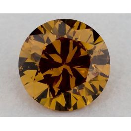 1.01 Carat, Fancy Deep Yellowish Orange, SI2, Round, GIA