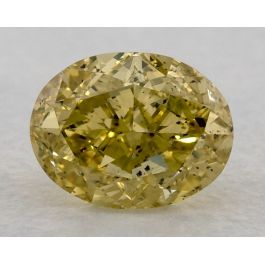 1.11 Carat, Fancy Intense Yellow, SI1, Oval, GIA
