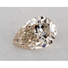 2.42 Carat, Natural Very Light Brown, Pear Shape, VS1 Clarity, GIA