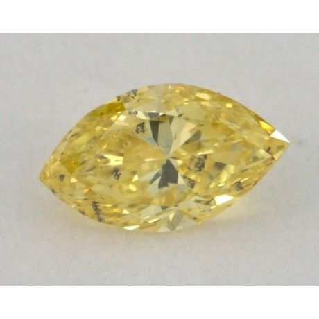 0.34 Carat, Natural Fancy Intense Yellow, Marquise Shape, I1 Clarity, GIA