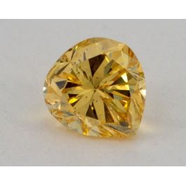 0.59 Carat, Natural Fancy Intense Orangy Yellow, Pear Shape, I1 Clarity, GIA
