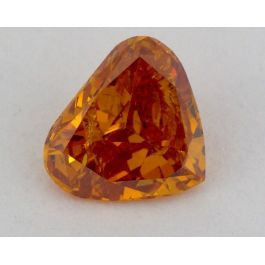 0.57 Carat, Natural Fancy Deep Yellowish Orange, Heart Shape, I1 Clarity, GIA