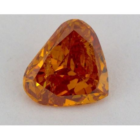 0.57 Carat, Natural Fancy Deep Yellowish Orange, I1 Clarity, GIA, W0010