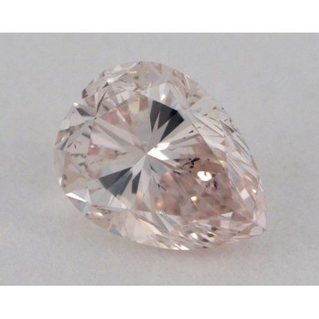 0.24 Carat, Natural Fancy Light Brownish Pink, Pear Shape, I1 Clarity, GIA