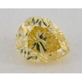 0.29 Carat, Natural Fancy Greenish Yellow, Pear Shape, SI1 Clarity, GIA