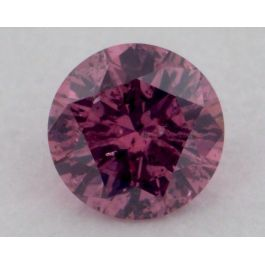 0.12 Carat, Natural Fancy Vivid Purple Pink, Round Shape, I1 Clarity, GIA