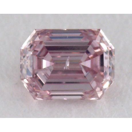 0.16 Carat, Natural Argyle Fancy Intense Purplish Pink, Emerald Shape, I1 Clarity, GIA