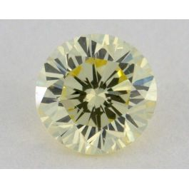 0.29 Carat, Natural Fancy Light Yellow, Round Shape, VS2 Clarity, IGI