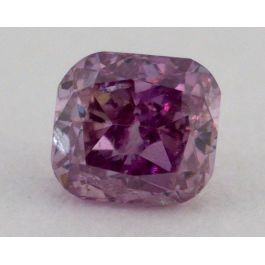 0.15 Carat, Natural Fancy Deep Purple, Cushion Shape, I1 Clarity, IGI