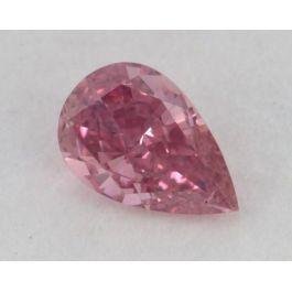 0.11 Carat, Natural Fancy Vivid Purplish Pink, Pear Shape, SI2 Clarity, GIA